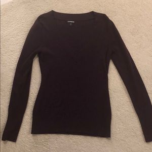 Express eggplant color sweater